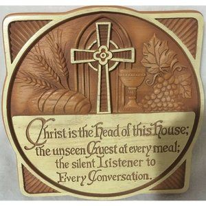 Christ Is The Head of This House Wall Plaque 9.5""